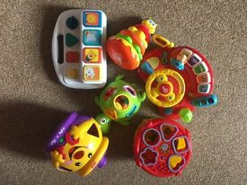 Baby toy bundle 9 month plus includes v tech, fisher price, little tikes