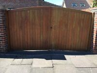 Solid Wooden Driveway Gates