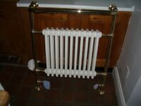 Traditional Towel Radiator with valves - Antique Gold - Imperial Bathrooms