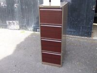 lockable cabinet with two keys.