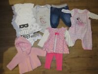 Big bundle of baby girl clothes over 100 pieces newborn and 0-3 months brand new some with tags on