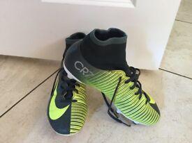 Nike Mercurial CR7 Football Sock Boots, Size 5.5 Studs