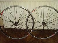 pair of 700c racing bike wheels