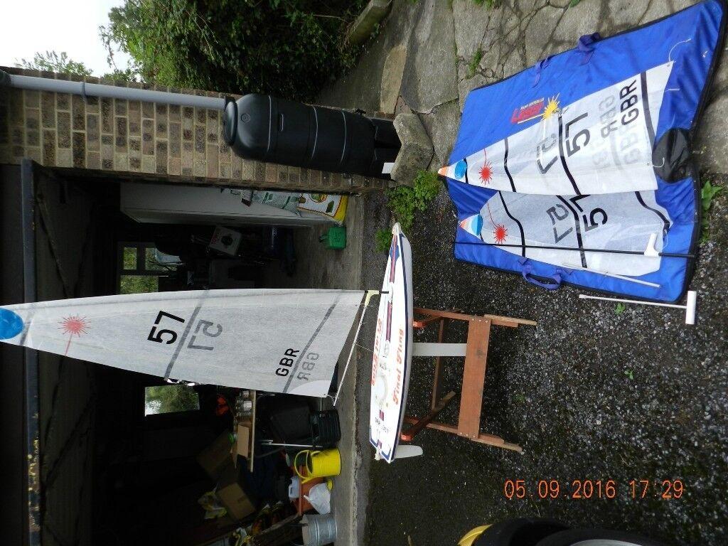 Laser radio controlled model yacht