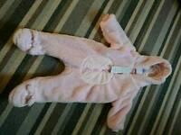 BNWT 3-6 month snow suit.