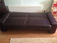 PVC sofabed. Black
