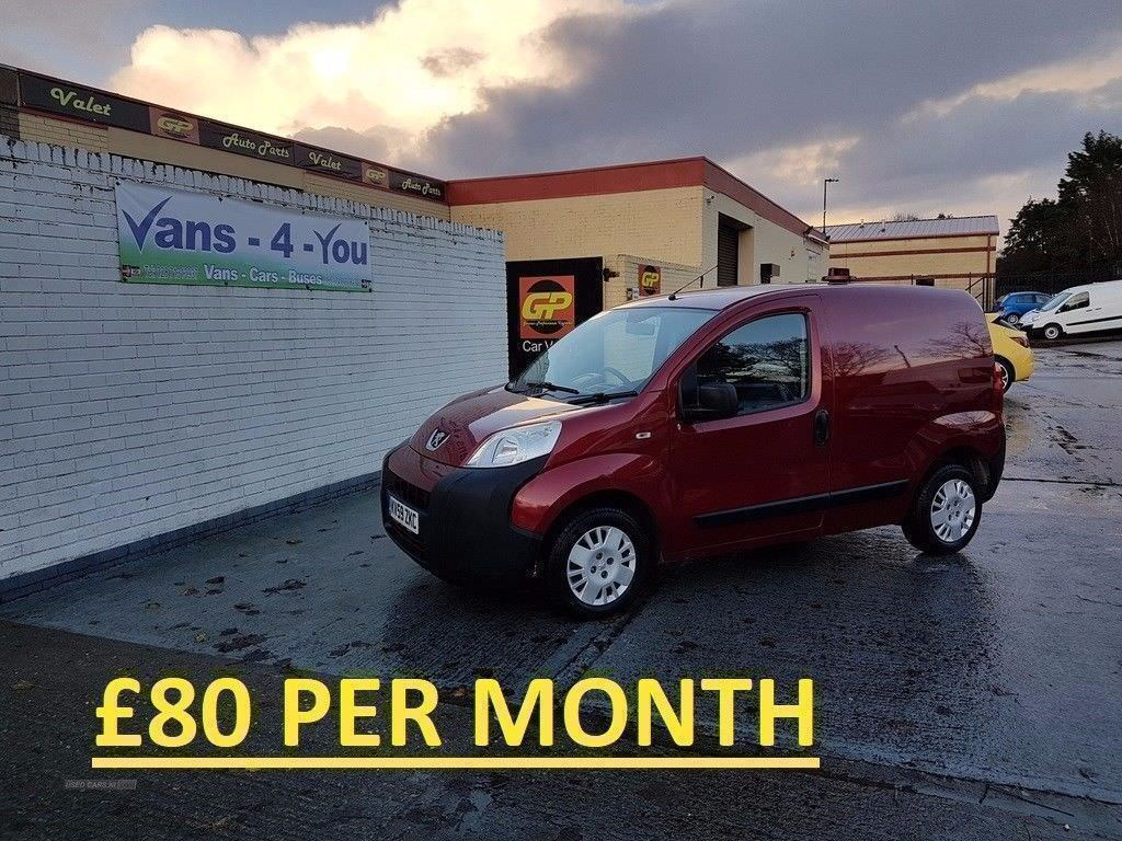 PEUGEOT BIPPER 1.4 HDI RARE DIABLO RED COLOUR *NO VAT* (OPEN ALL OVER CHRISTMAS)