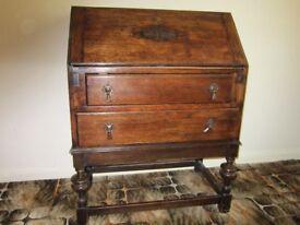1930s oak writing bureau.