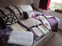1Super King Size Dunelm Duvet sets,1 Cushions,13.5 Duvet,1 Sheet.