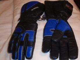 GENTS MOTORCYCLE GLOVES. KOMENI POUR R EX WATERPROOF, BREATHABLE. SIZE L VG CONDITION