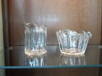 Vintage Glass Sugar Bowl and Jug