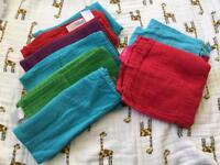 Faye & Lou Rainbow Muslins large & small