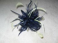 Fascinator by Jacques Vert in Navy and pale Lime Green