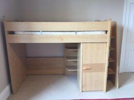 High sleeper bed with wardrobe. Gautier Savanne