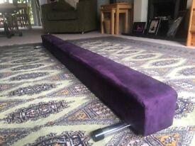6 ft/180 cm Purple Suedette Low Gymnastics Beam