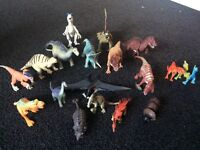Various Toy dinosaurs