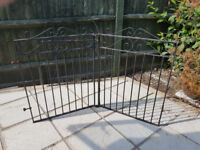 Pair of centre folding driveway gates - Wrought Iron