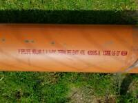 PVC pipe 200mm x 3m and 200mm x 1m