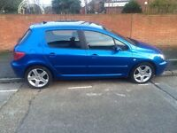 PEUGEOT 307 2.0 HDi XSi [AC] 5dr 137 BHP WITH FULL SERVICE HISTORY IN IMMACULATE CONDITION
