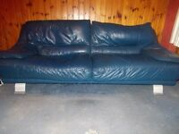 Leather Sofas) (2+3) (Delivery Available)***