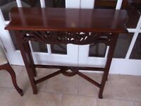 LOVELY MAHOGANY FRETWORK CARVED CONSOLE TABLE