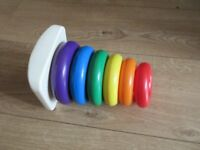 STACKER RING BABY TOY in varying sizes & bright colours