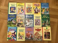 30 Enid Blyton books.