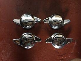 Jaguar E Type Wire Wheel Spinners x 4 No. Chromne.