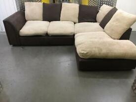 Comfy L shape corner sofa •free delivery