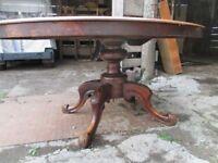"Large Pedestal Oval ""Tilt and Turn"" Dining Table"