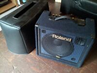 Roland KC150 4-Ch Mixing Keyboard Amplifier and case