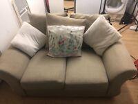 2+3 seater fabric cream sofas