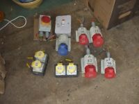 JOB LOT OF HEAVY DUTY ELECTRICAL SOCKETS
