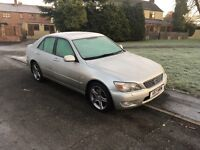 Absolute bargain low mileage silver lexus is200, electric sunroof, reverse parking sensors