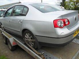 volkswagen passat 1.9 tdi 2006/7 silver damage repairable