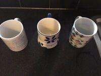 Various mugs for sale, from 1 to 3 pounds each