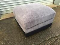 Brand new black and grey footstool