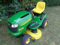 """John Deere L 105 ride on mower with Briggs and Stratton engine 42 """" edge deck"""