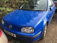 VOLKSWAGEN GOLF S 1998- FOR PARTS ONLY