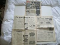 Three Vintage Newspapers - Fascinating Content. In Good Order. Price Shown is for all Three.
