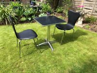 Vintage bistro table and two chairs