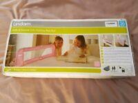 Lindam folding pink bed rail/guard
