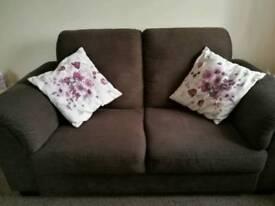 Tidafors dark brown 2 seater sofa - like new