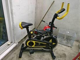Yellow runing bike
