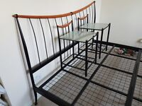 Super king size bed frame and accessories