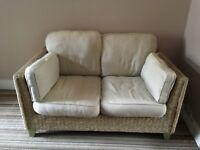 M&S Rattan Small Sofa X2