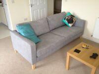 Ikea KARLSTAD 3-seat sofa in Grey