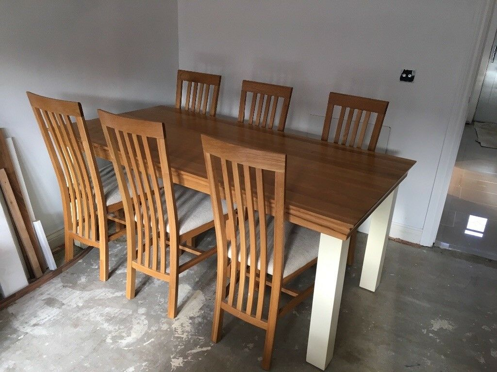 Pleasing Oak Furniture Land Country Cottage Dining Table 6 Chairs In North Hykeham Lincolnshire Gumtree Interior Design Ideas Tzicisoteloinfo