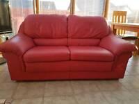 Leather 2 & 3 seater sofa