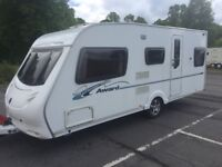 ACE Award Nightstar T5B 5-berth single-axle Touring Caravan (2008)
